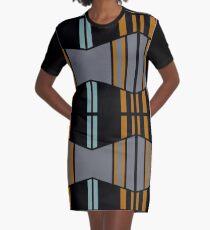 City Streets/ Mondrian Graphic T-Shirt Dress