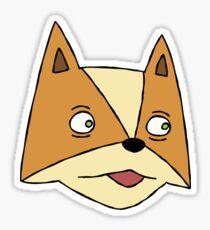 mccloud, fox Sticker