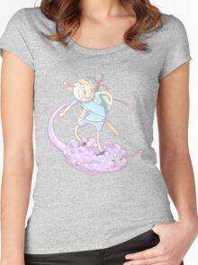 Finn on Lumpy Space Nimbus Women's Fitted Scoop T-Shirt