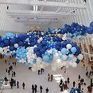 Art Installation, World Trade Center Transit Hub Oculus, Lower Manhattan, New York City by lenspiro