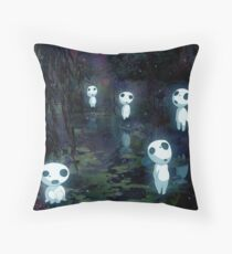 Kodama by the Pond Throw Pillow