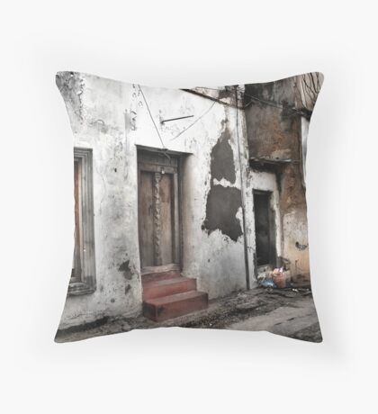 Red steps Throw Pillow
