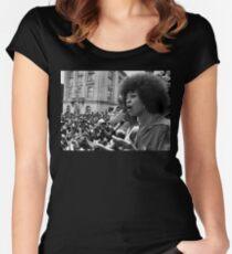 Angela Davis Speech Women's Fitted Scoop T-Shirt