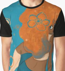 Ginger (Blue Background) Graphic T-Shirt