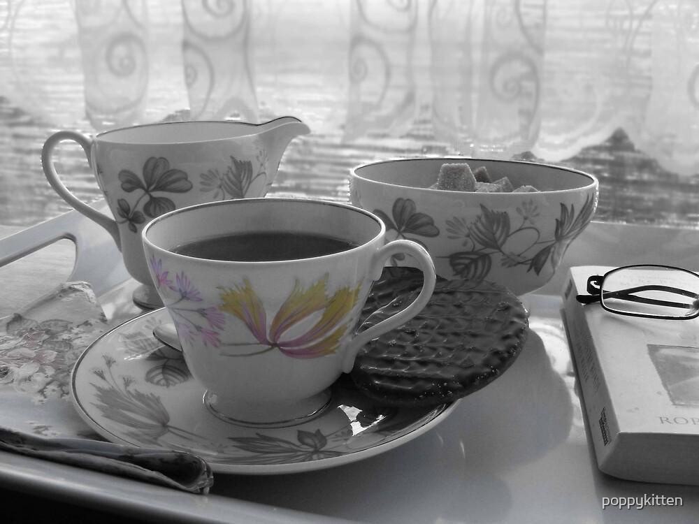 Tea break by poppykitten