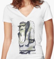 A Wife for Claude Women's Fitted V-Neck T-Shirt