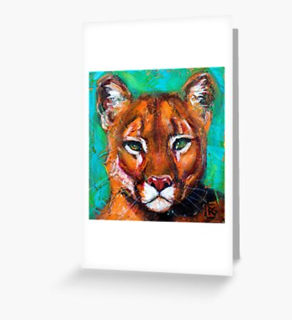 Earth Keeper: Mountain Lion Greeting Card