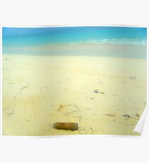 Cuban cigar on beach Poster