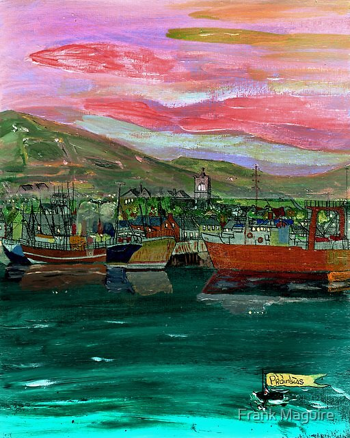 Dingle Twlight. by Frank Maguire