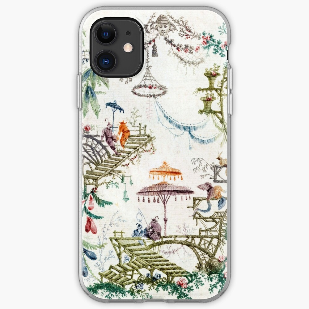 Verzauberter Wald Chinoiserie iPhone-Hülle & Cover