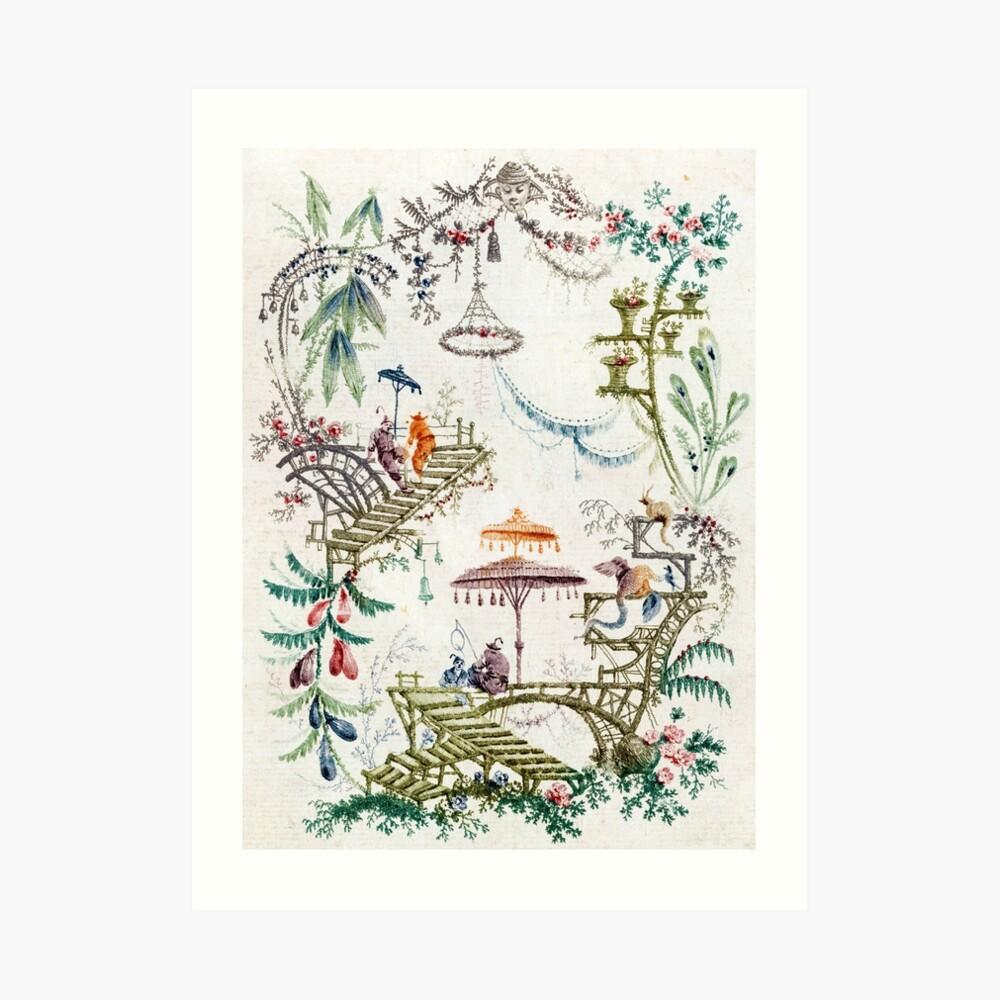 Verzauberter Wald Chinoiserie Kunstdruck