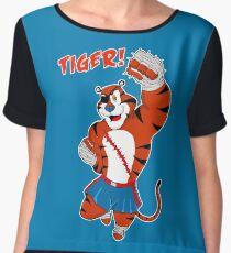 Tiger uppercut! Women's Chiffon Top