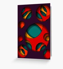 Hole in the Wall Surface Pattern Design Greeting Card