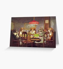 Dogs Playing Poker Greeting Card