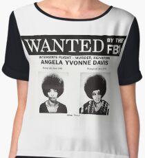 Angela Davis Wanted Women's Chiffon Top