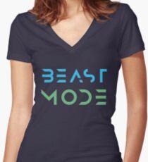 Beast Mode Women's Fitted V-Neck T-Shirt
