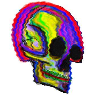 Trippy Skull by AndyMorrison