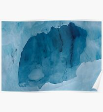 Blue Ice Cave Poster
