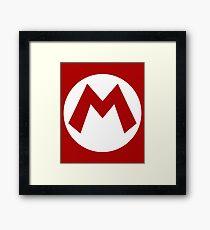 """""""M"""" Logo Framed Print"""