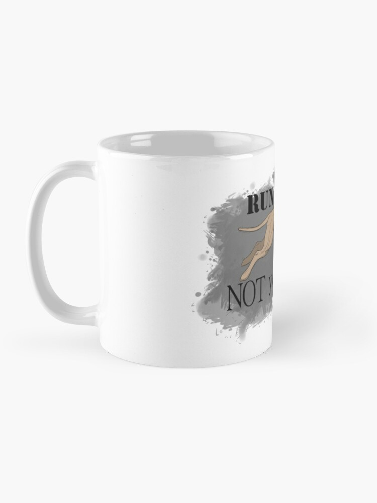 Alternate view of Run Your Dog Not Your Mouth American Pit Bull Terrier Light Fawn Mug