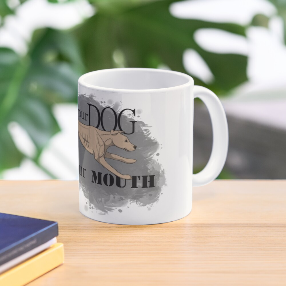 Run Your Dog Not Your Mouth American Pit Bull Terrier Light Fawn Mug
