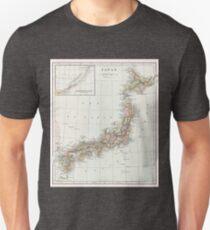Vintage Map of Japan Unisex T-Shirt