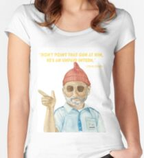 Steve Zissou - The Life Aquatic by Wes Anderson, Bill Murray Women's Fitted Scoop T-Shirt