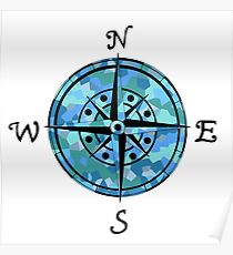 Naval Compass Poster