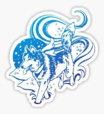 Winter Husky Sticker