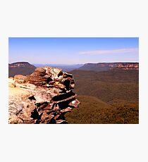 Blue Mountains Precipice Photographic Print