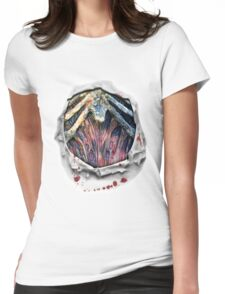 Zombie Chest Ripped Shirt Torn Bloody Halloween Costume Womens Fitted T-Shirt