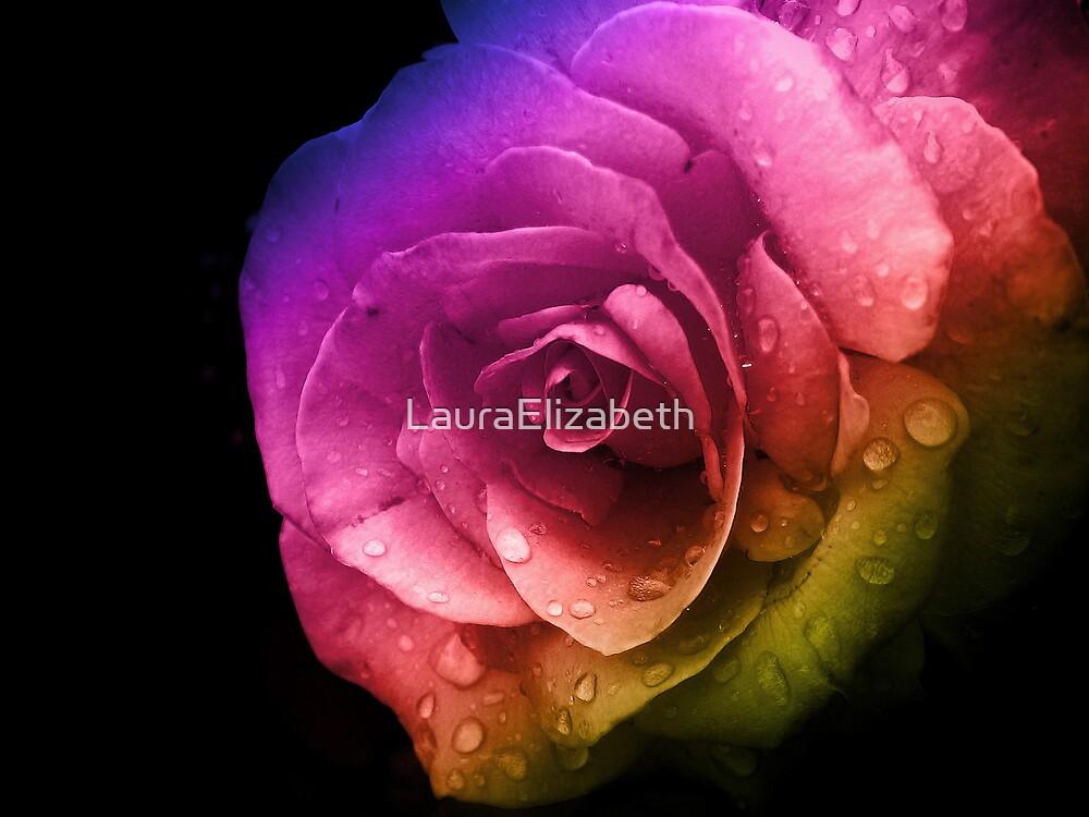 Rainbow Rose by LauraElizabeth