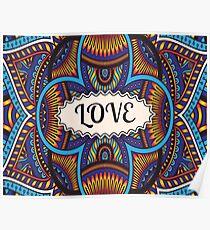 Love Pattern Poster