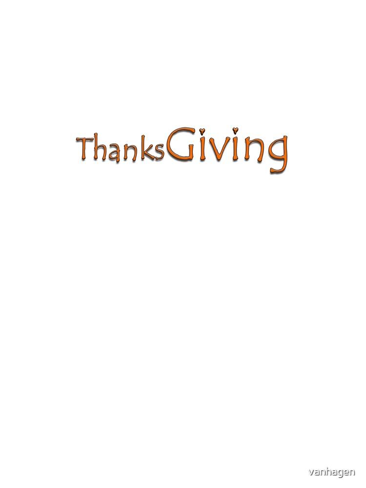 thanksgiving by vanhagen