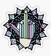 Middle Finger Mandala (Crystal) Sticker