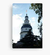 Annapolis State House Canvas Print