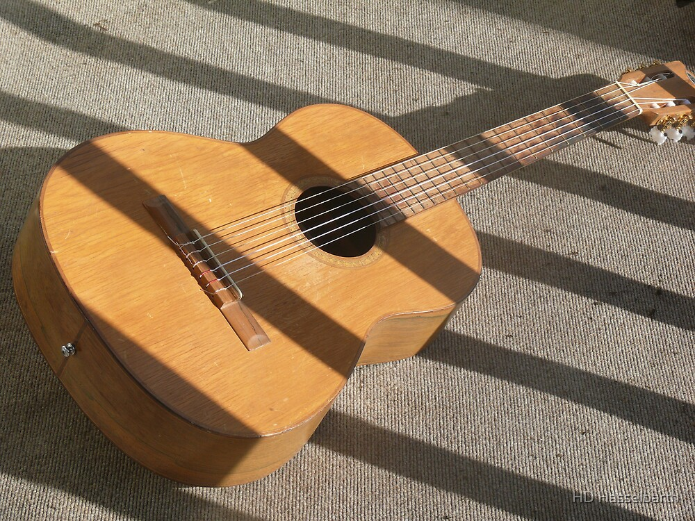 Guitar in Sun by HD Hasselbarth