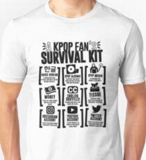 A KPOP FAN'S SURVIVAL KIT (Whiter Ver.) Unisex T-Shirt