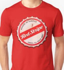 Red Stripe Bottle Cap Unisex T-Shirt