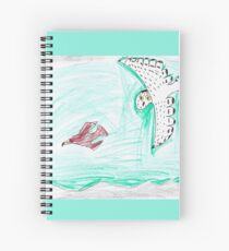 Snowy Owl on the Hunt Spiral Notebook