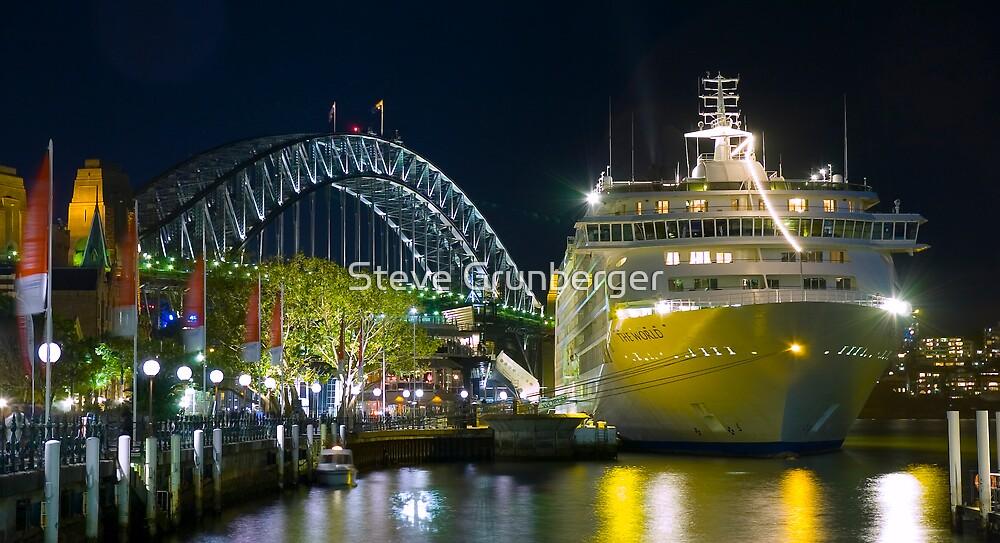 The World - Cruise Ship by Steve Grunberger