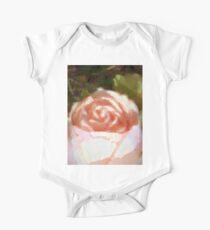 Pale Pink Rose One Piece - Short Sleeve