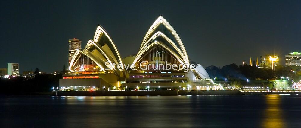 Sydney Opera House at Night by Steve Grunberger