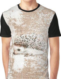Hedgehog Tan Grunge Graphic T-Shirt