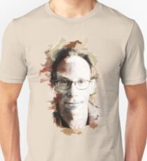 Paint-Stroked Portrait of Author and Activist, Lawrence Krauss Unisex T-Shirt