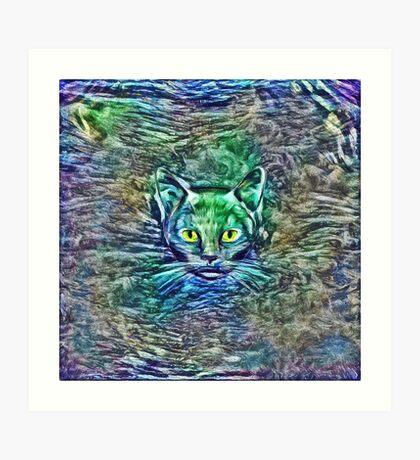 Maritime cat Art Print