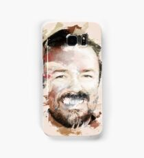 Paint-Stroked Portrait of Actor and Comedian, Ricky Gervais Samsung Galaxy Case/Skin