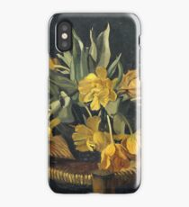 Felix Vallotton - Double Yellow Tulips On A Wicker Chair iPhone X Case