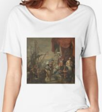 Ferdinand Bol - Aeneas At The Court Of Latinus, 1664 Women's Relaxed Fit T-Shirt
