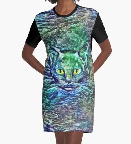 Maritime cat Graphic T-Shirt Dress